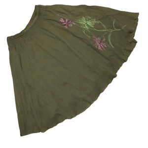Cherokee green circle skirt